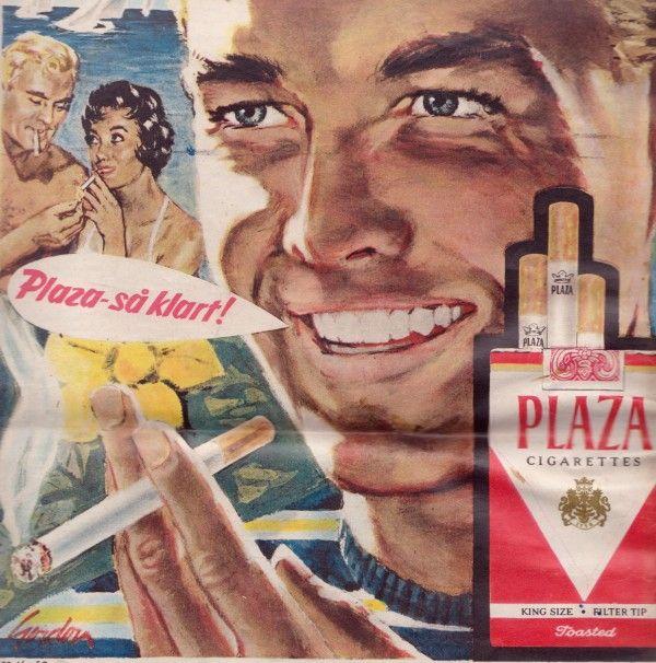 Reklame Plaza Cigarettes
