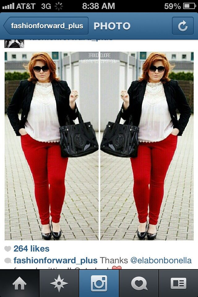 Vintage red and black plus size outfit