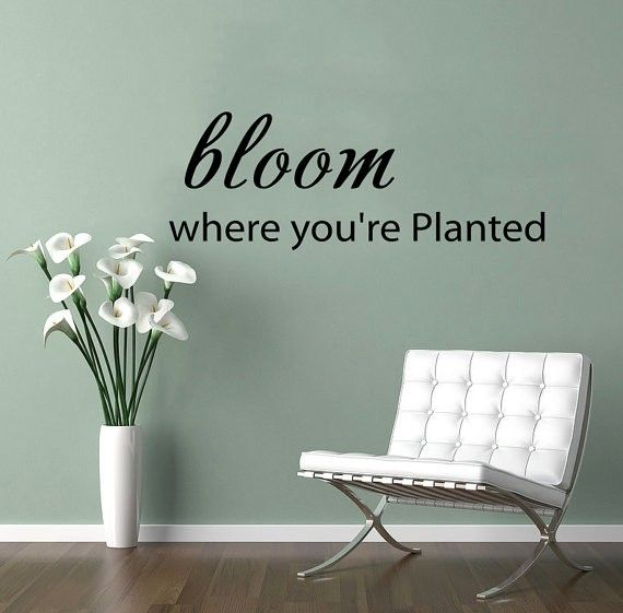 Bloom Where Youu0027re Planted   Wall Decals Quotes   Wall Vinyl Decal   Wall