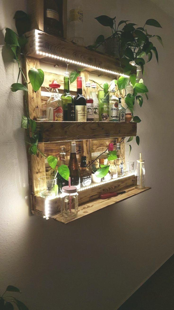Palettenregal Bar Aus Paletten Mit Led Beleuchtung Holz Diy Diymobel Palettenregal Bar Aus Paletten Pallet Diy Diy Decor Painting Furniture Diy
