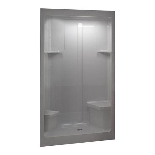 Lowes Home Improvement Shower Stalls Aqua Glass 48 Quot W X