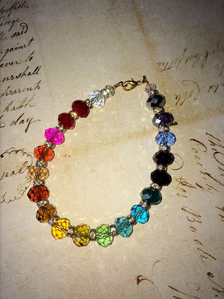 A personal favourite from my Etsy shop https://www.etsy.com/au/listing/503987129/rainbow-crystal-bracelet