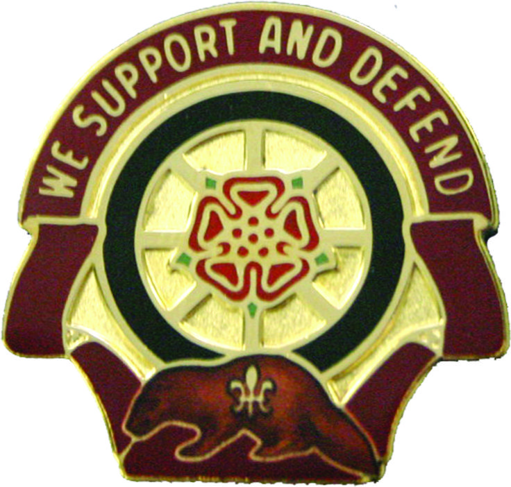 1461st Transportation Company Unit Crest (We Support And Defend)