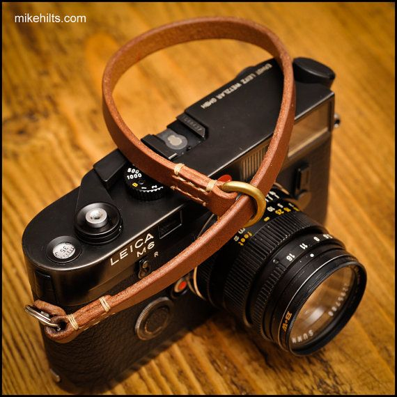 Hand Crafted Leather Camera Wrist Strap for the by MHaccoutrements
