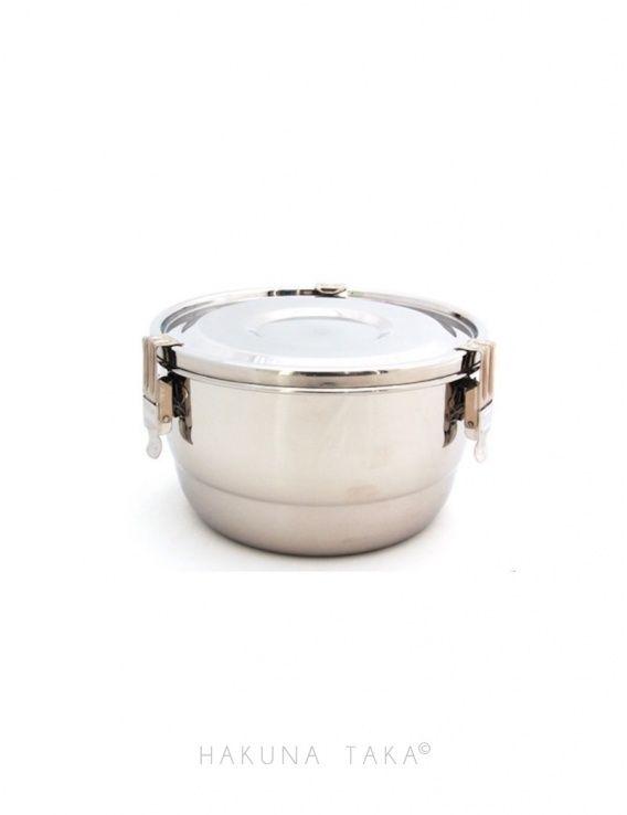 Petite Boite Inox pour courses sans emballages jetables et conservation saine des aliments #zerodechet #hakunataka #boiteinox #recipientszerodechet #boiteverre