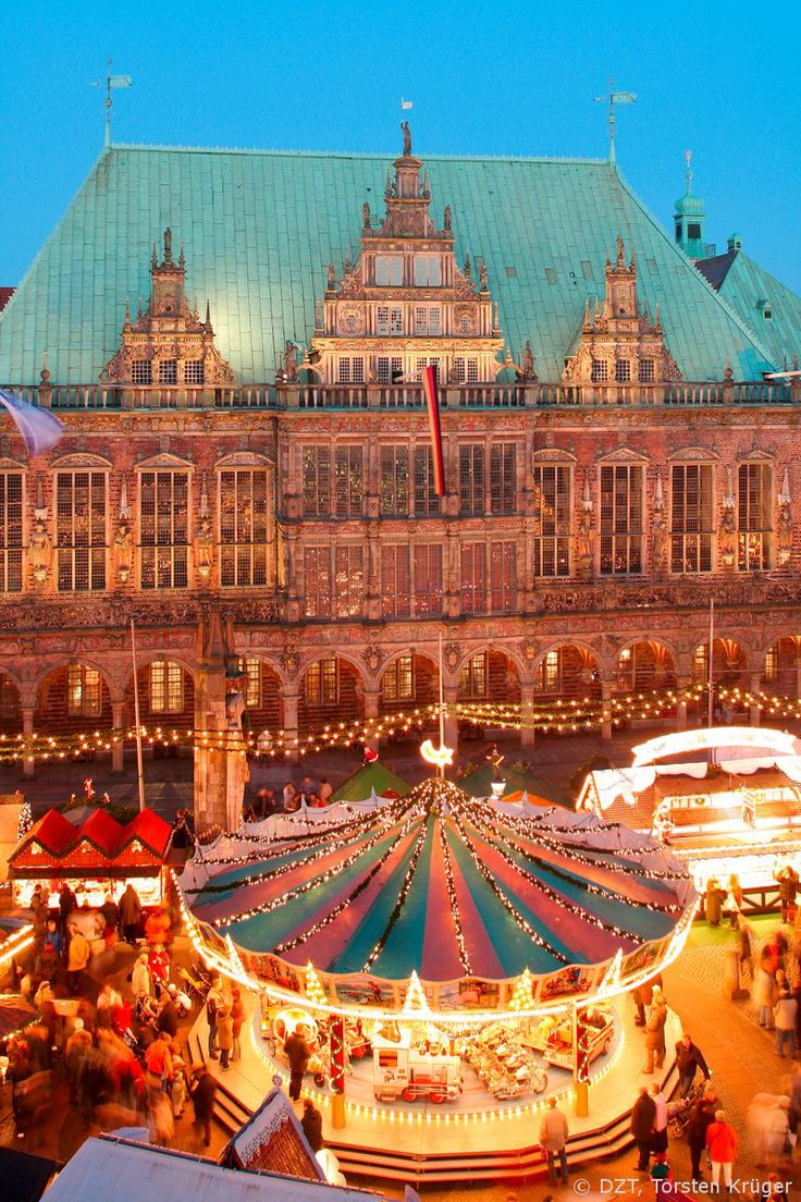 The Christmas stalls around the town hall in Bremen. #joingermantradition Enter the #InspiredBy Pinterest Contest for your chance to win a trip to Germany!