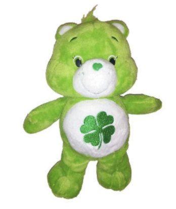 Good Luck Care Bear, Care Bears, Teddy Bears, Bean Bag Bear, Stuffed Animals, Toys, Bears, Etsy, Green Teddy Bears by BeanieBabiesandToys on Etsy
