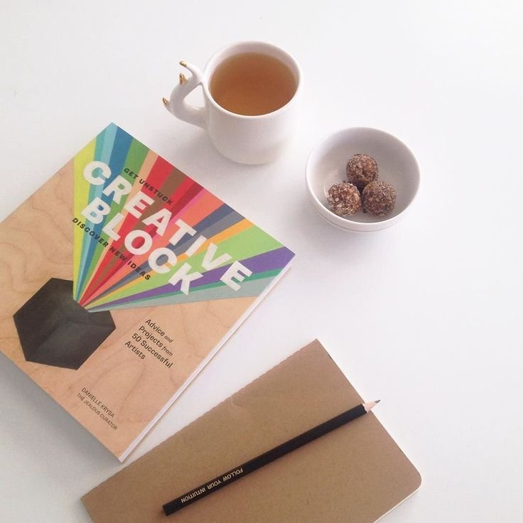 Finding inspiration this afternoon with Creative Block tea treats and best of all a new notebook.