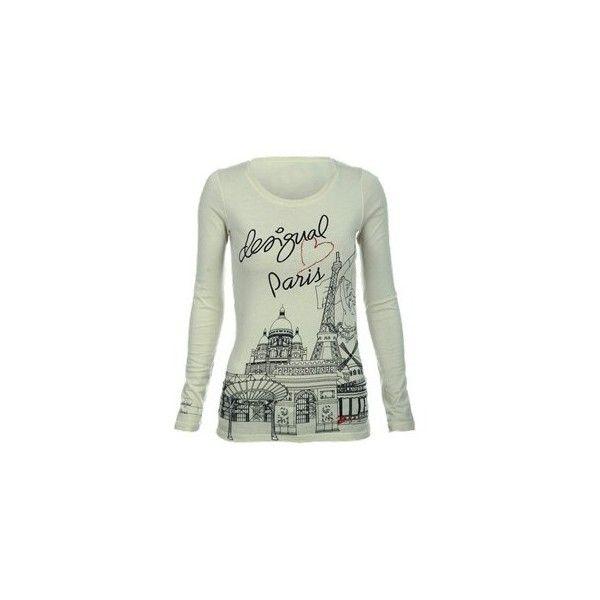 Blusa Desigual Creme @ Glamour ❤ liked on Polyvore