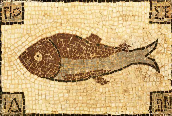 A Roman Mosaic Panel Depicting A Fish Artist Christies