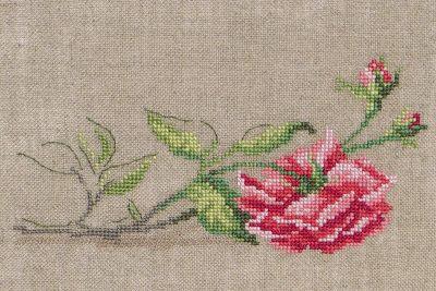 """Moja pasja, mój świat: """"La Rose cassée"""" - Mon journal au point de croix - Sophie Bester-Baqué, Véronique Enginger"""