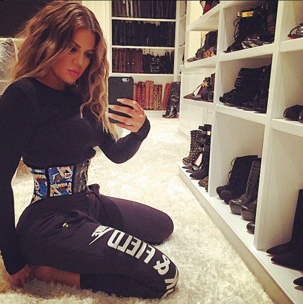 Khloe Kardashian wearing a #corset. #WaistTrainers