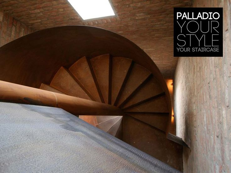 Escada em caracol helicoidal de Corten™ PALLADIO SPIRAL CORTEN by Palladio Scale