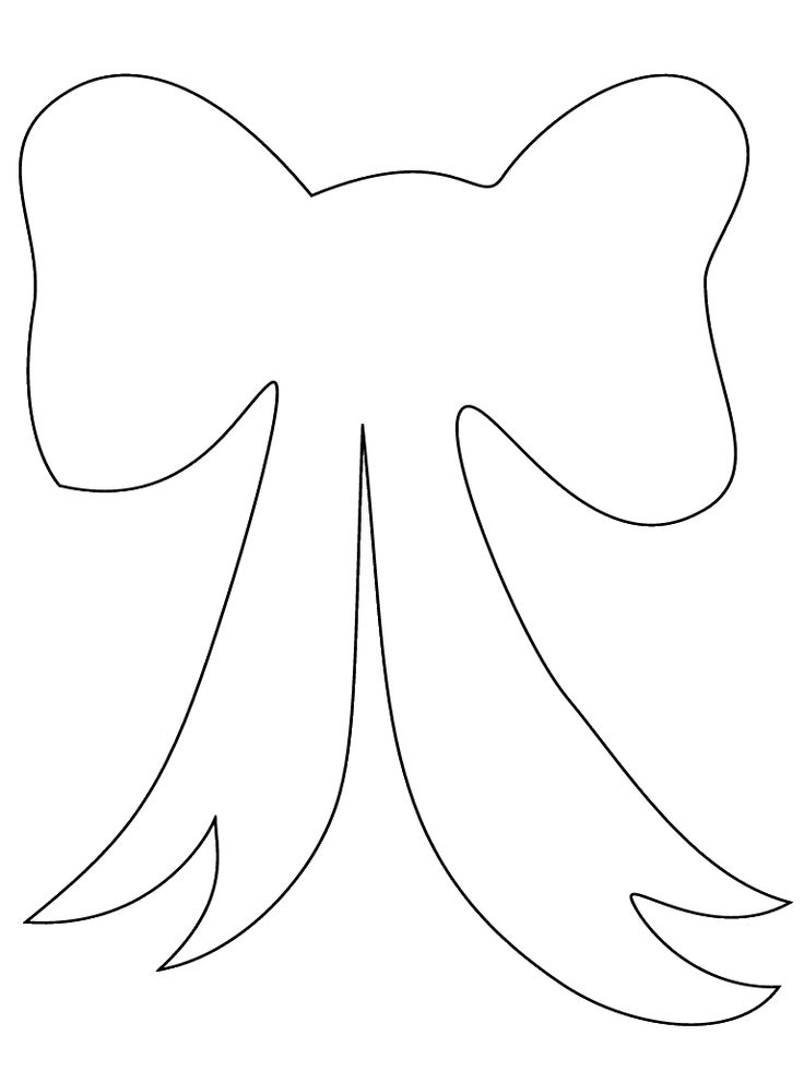 Large Bow Template / Stencil.  Printable for DIY sewing appliqué, painting & crafting.