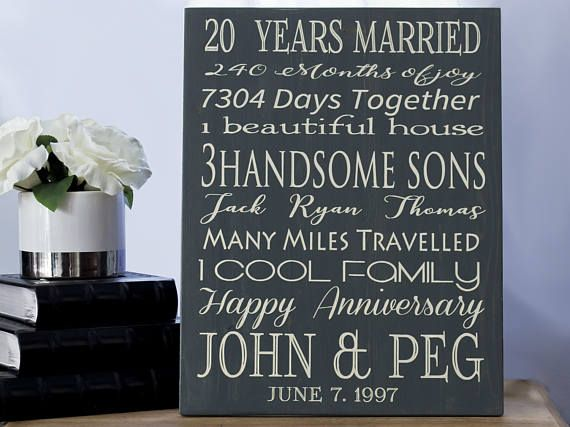 Traditional 20th Wedding Anniversary Gift: Best 25+ 20th Anniversary Gifts Ideas On Pinterest