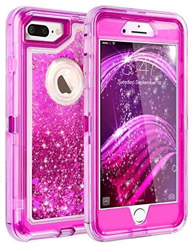 4bb2d687309 iPhone 8 Plus Case iPhone 7 Plus Case Coolden 3D Glitter Sparkle Dual Layer  Quicksand Liquid Cover Clear Shockproof Bumper Anti-D…