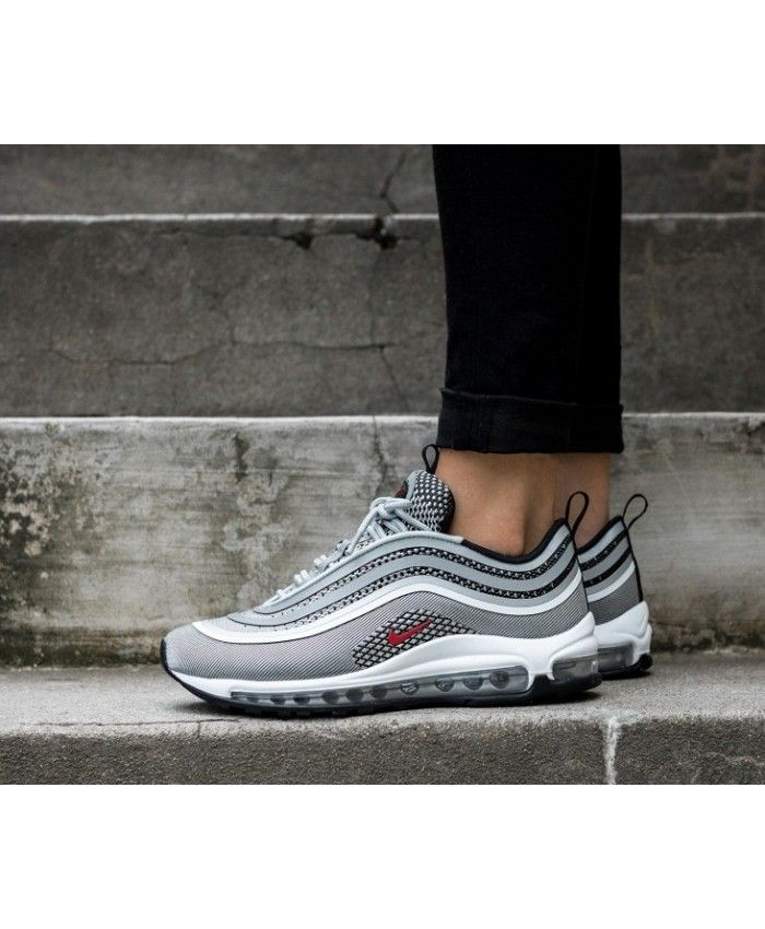 acheter en ligne 56b07 b1d9f Nike Air Max 97 Silver Red Black White Womens Trainers ...