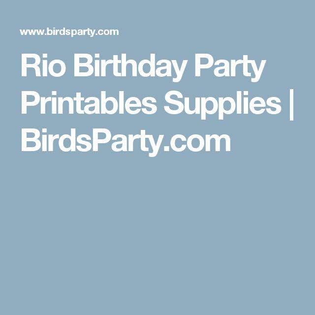 Rio Birthday Party Printables Supplies   BirdsParty.com