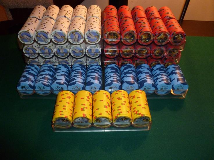 Paulson poker chips from the President Casino New Yorker.