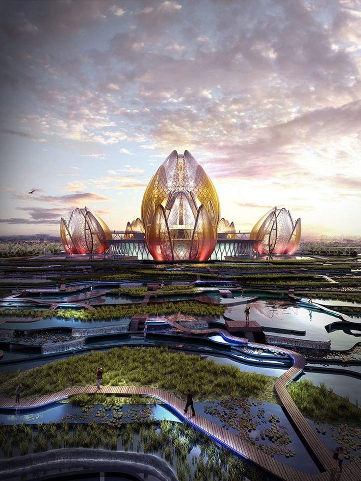 "DeciBel proposes ""lotus-like"" theatre and cultural centre for Hanoi"