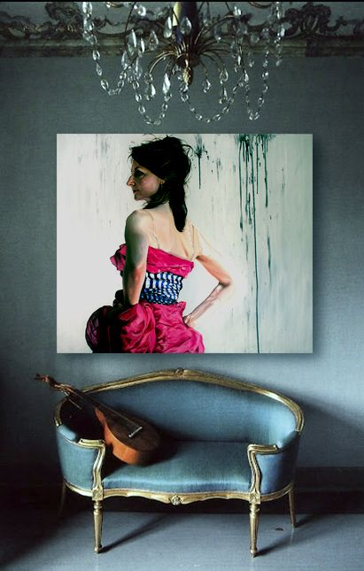 One of my oil paintings on the wall (example). More: www.annakmita.com