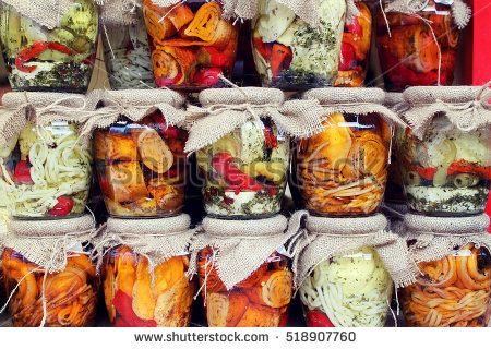 Slovak cheese in jars