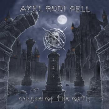 """L'album di #AlexRudiPell intitolato """"Circle Of The Oath""""su doppio vinile con copertina gatefold, stampa interna e vinile color blu marmorizzato."""