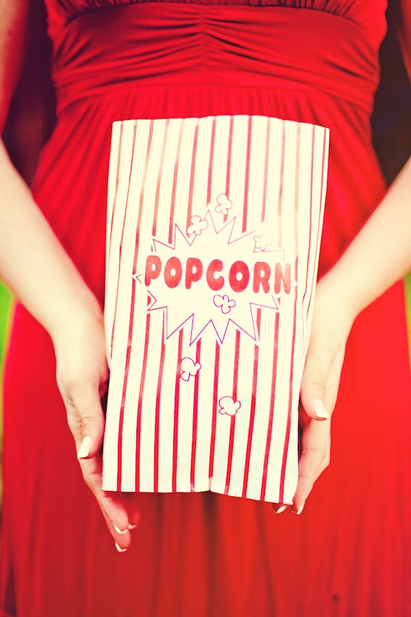 Popcorn bags for the Truffle Popcorn...found the same ones at the dollar store!  Easy peasy!