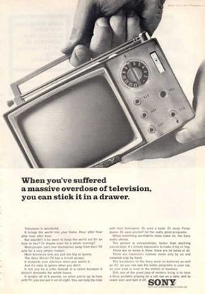 Sony Portable Tv Television Radio (1964)  we made things SMALL long before others did!