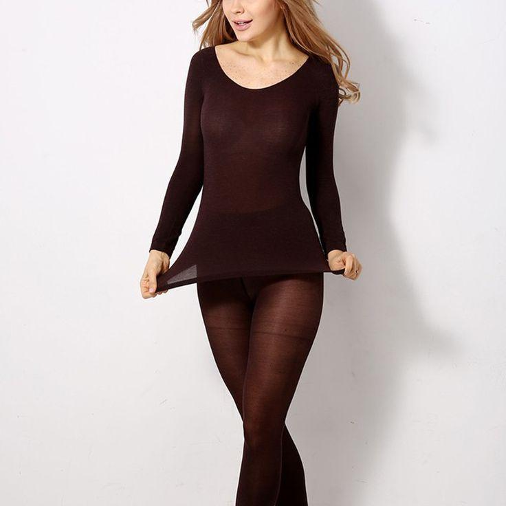 Sexy Women Long Johns Modal Thermal Underwear Suit Keep Warm Sleepwear Underclothing for Female 004