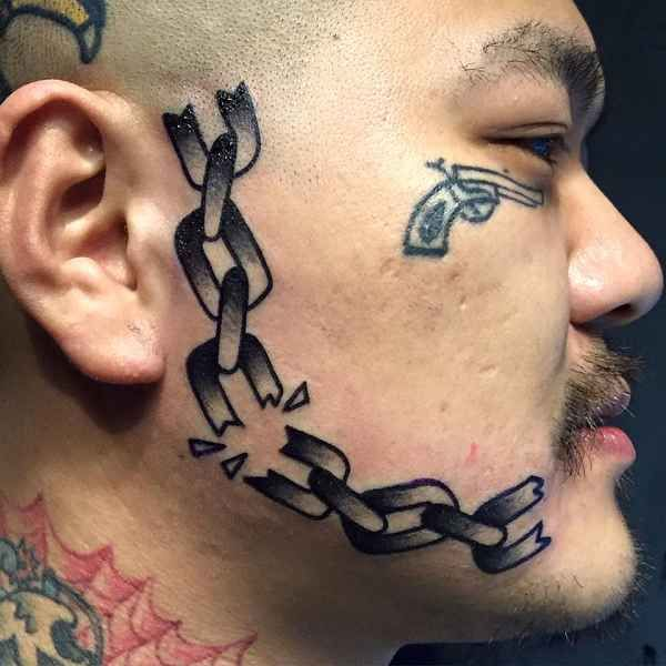 Side Of Face Tattoos: The 25+ Best Face Tattoos Ideas On Pinterest