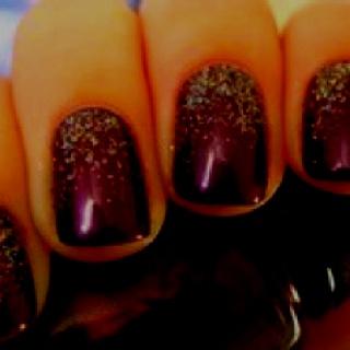 : Nails Art, How To Paintings Ombre Nails, Burgandi Nails, Glitter Nails, Nails Ideas, Glitter Polish, Nails Polish, Simple Elegant Fall Nails, Holidays Nails