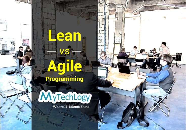 """Being Lean is not Agile"". Checkout the differences between a #Lean & #Agile Programming."