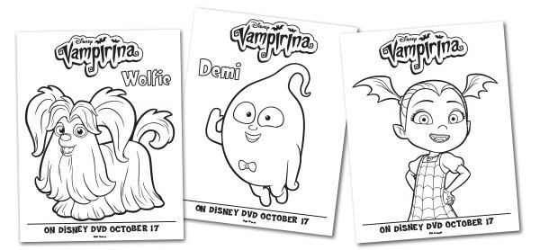 Vampirina Printables For Your Child To Celebrate Halloween Happily
