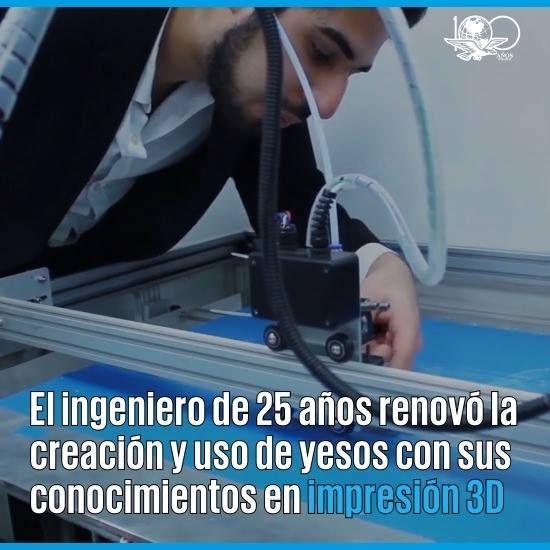 """#OrgulloMexicano Zaid es un ingeniero mecatrónico, egresado de la UNAM, que creó una empresa que hace """"yesos en 3D"""". Conoce su historia en #NuevosOficios ➡ http://eluni.mx/2lgAfyj"""