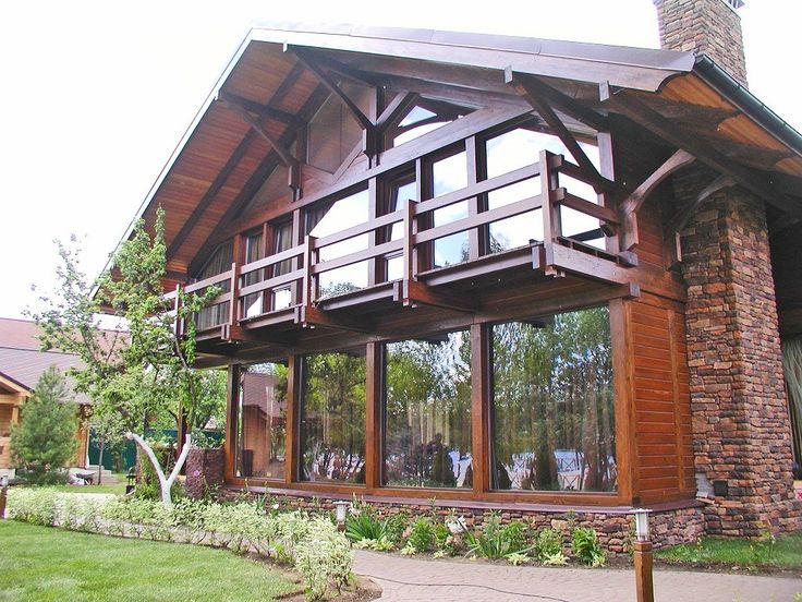 Дома в стиле фахверк из клееного бруса