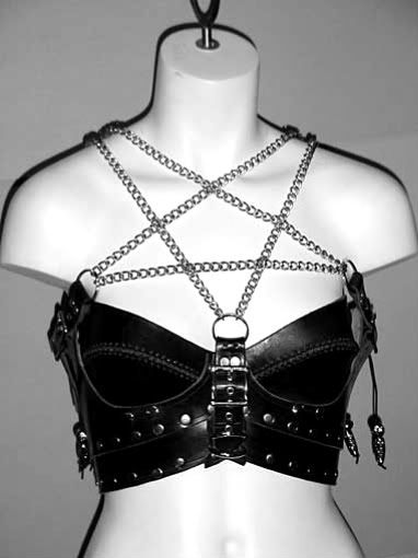 pentagram chain bustier