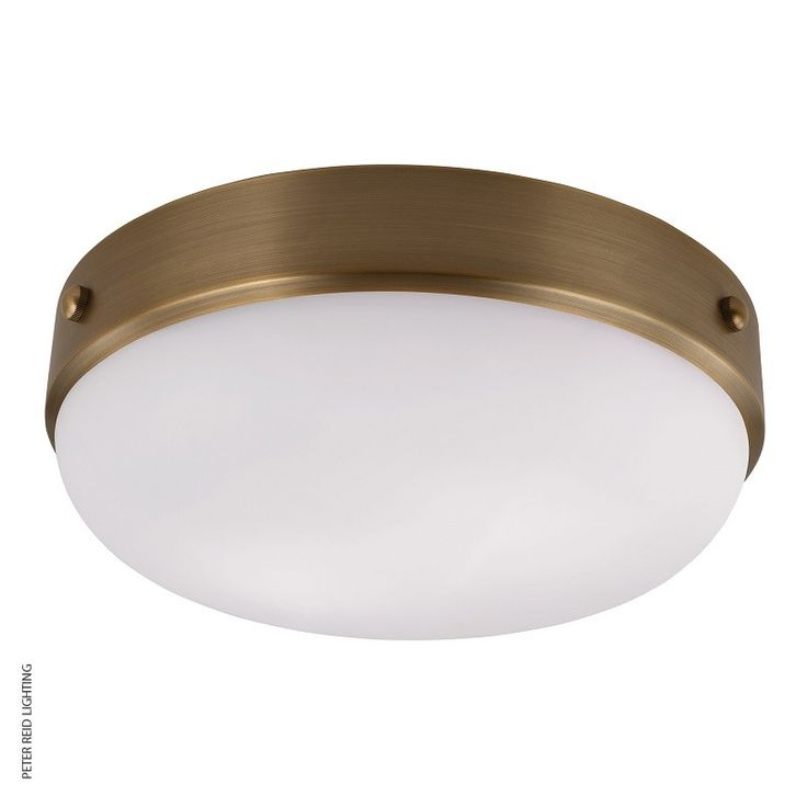 Cadence Flush Mount Ceiling Light Antique Brass, by the USA's Feiss.