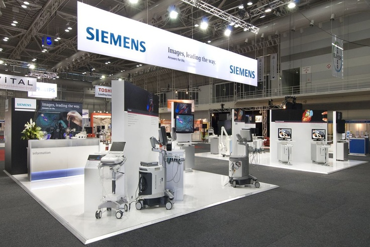 Have 2 stands that you need to join?  As Siemens did at AOCR 2012, have an overhead banner to link the stands!