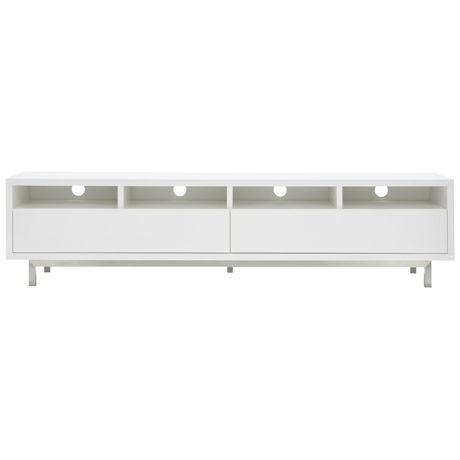TV Room: Freedom Signature Entertainment Unit Large  White 198cm in length $899 on sale. If you go for a white ETU in the TV room then you can bring the white ottoman from the rumpus into this room to use as a large coffee table.