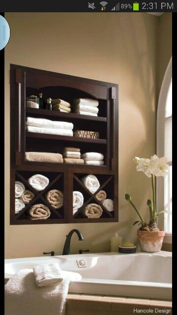 Built in shelf-I must have this for master bath!