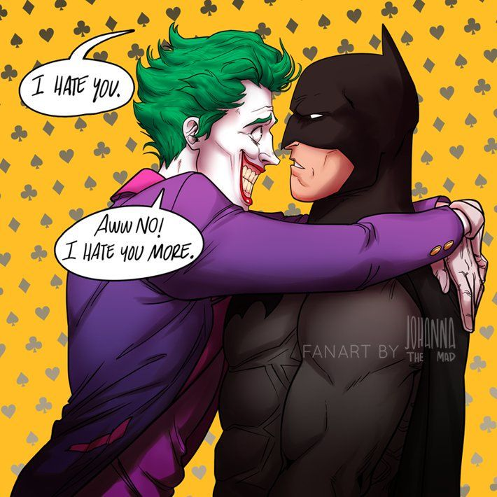 I'm the gay joker, i don't take nothing for nobody, and i don't take no for an answer