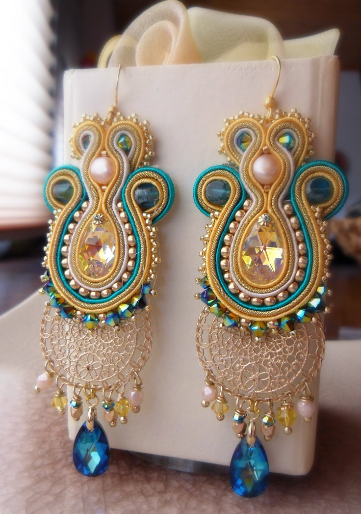 Soutache erarrings by Serena Di Mercione (FB: Serenidea Creativa)