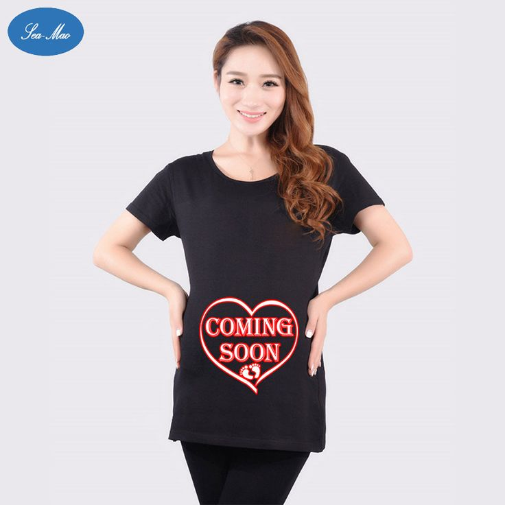 Sea mao Fashion High Quality Cotton Women t shirt Love Letters Printed Loose Short Sleeved Maternity Women's T-Shirt Plus Size
