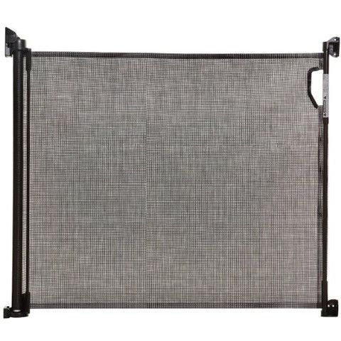 Black Retractable Pet Barrier Gate