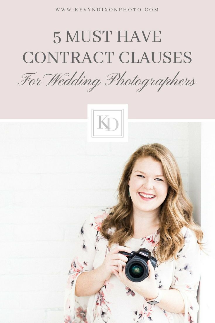 Contract Clauses For Wedding Photographers Kevyndixonphoto Com Wedding Photography Contract Photography Contract Wedding Photographers