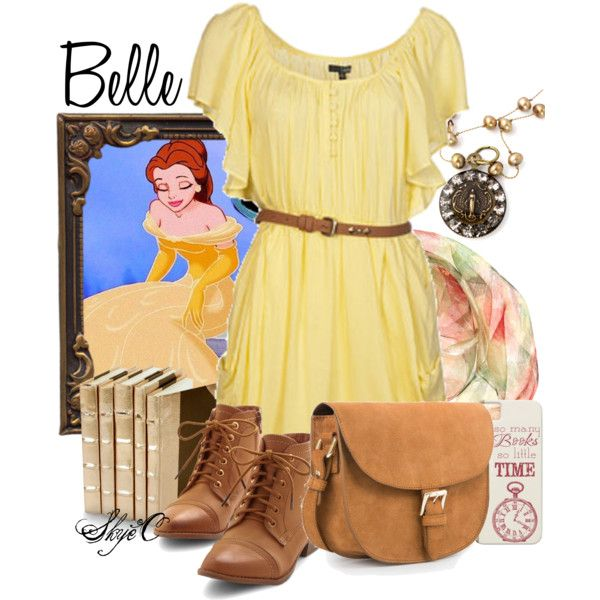 Belle - Spring - Disney's Beauty and the Beast by rubytyra on Polyvore featuring Ladakh, MANGO and Yuh Okano