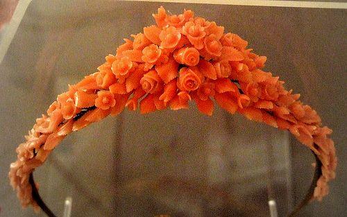 Red Coral, французский c.19th века Бирмингем Ювелирные изделия Музейный квартал
