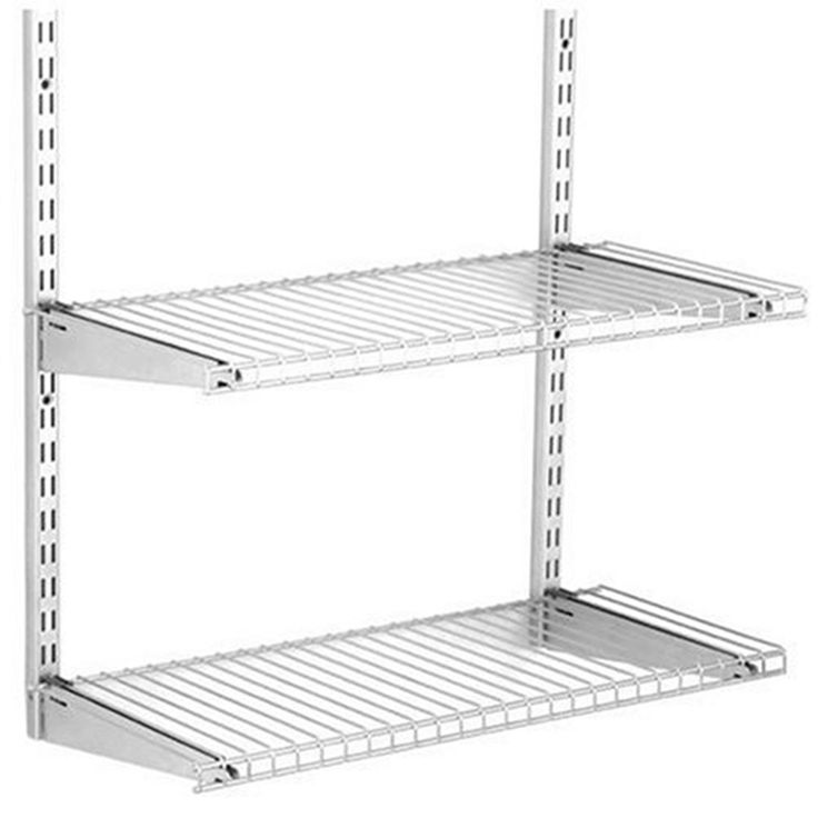 Rubbermaid HomeFree Satin Nickel Wire Add On 2 Shelf Kit Lowes    40 https. Best 25  Garage kits lowes ideas on Pinterest   Garage insulation