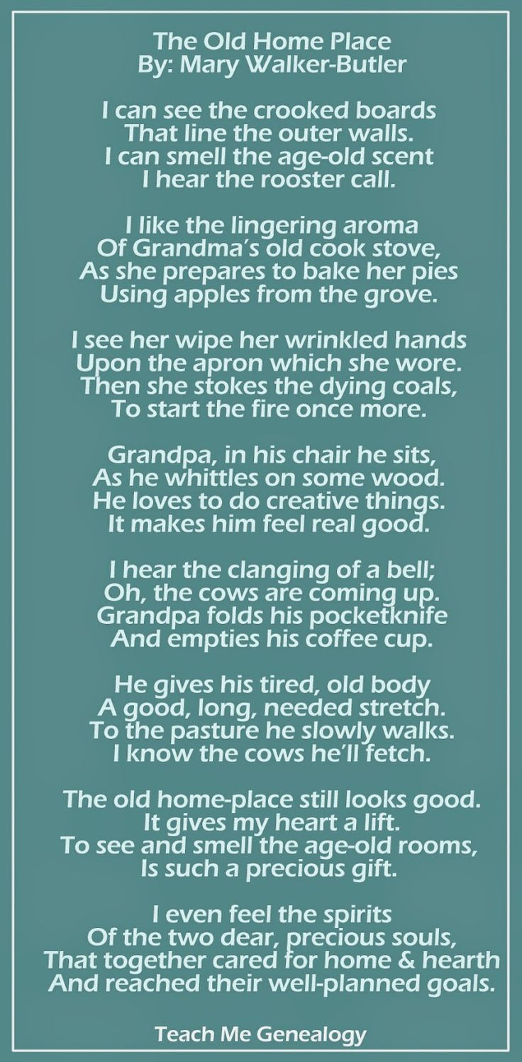 The Old Home Place - By Mary Walker Butler ~ Teach Me Genealogy
